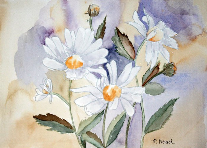 Flowers Greeting Card featuring the painting Daisy Days by Patricia Novack