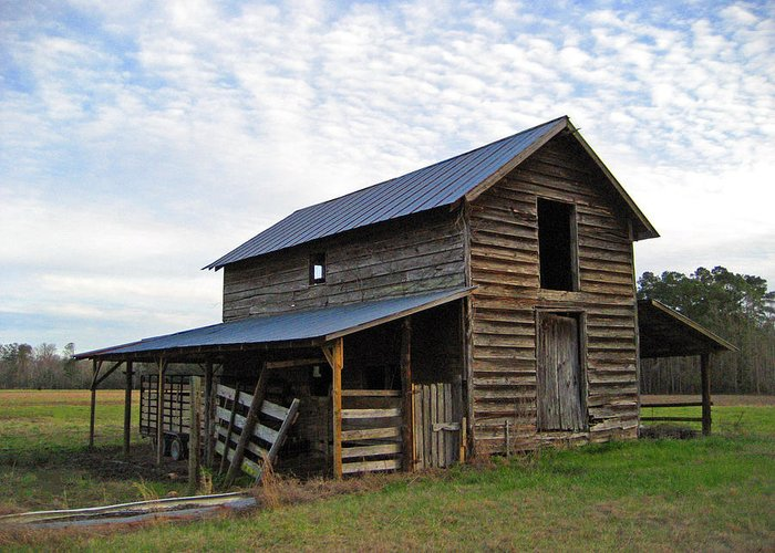 Barn Greeting Card featuring the photograph Days Gone By by Suzanne Gaff