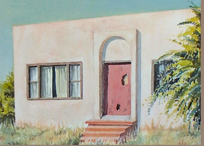 House Greeting Card featuring the painting Once was a Home by Philip Fleischer