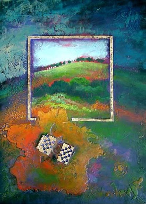 Impressionist Greeting Card featuring the painting Focal point by Farhan Abouassali