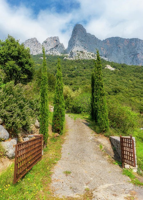 Picos De Europa Greeting Card featuring the photograph Gateway To A Road Through The Peaks Of Europe, Asturias by Vicen Photography