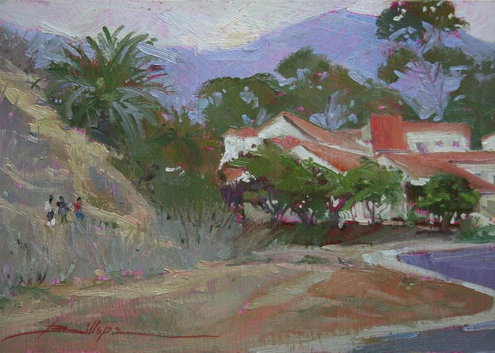 Catalina Island Ca Greeting Card featuring the painting Going Home Catalina by Betty Jean Billups