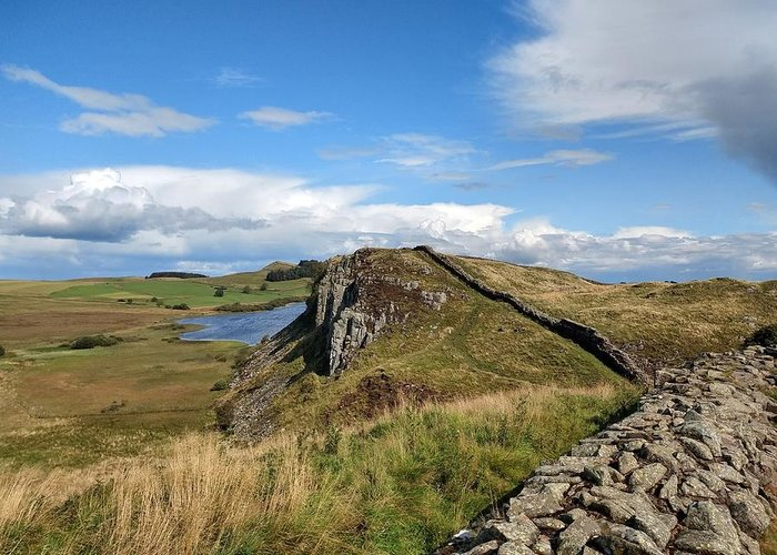 Landscape Greeting Card featuring the photograph Hadrianswall by Pop