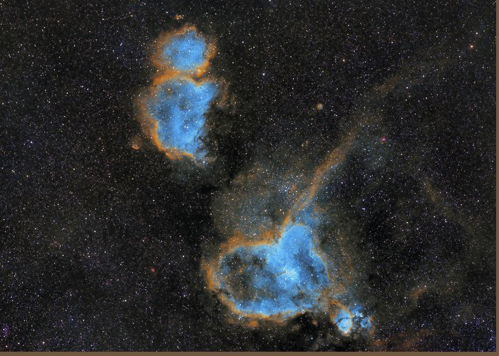 Nebula Greeting Card featuring the photograph Heart and Soul Nebula by Prabhu Astrophotography