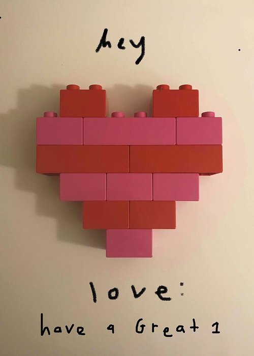 Heart Greeting Card featuring the mixed media Hey Love by Ashley Rice
