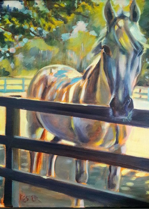Greeting Card featuring the painting Hot and Humid by Kaytee Esser