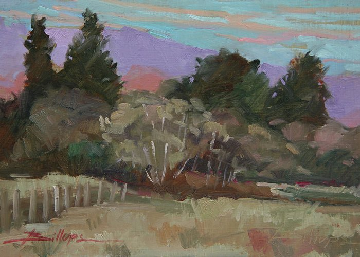 Northern California Greeting Card featuring the painting Humbolt Fields by Betty Jean Billups