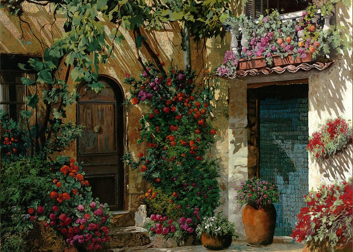 Courtyard Greeting Cards