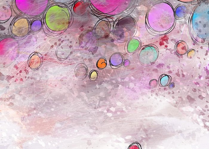 Abstract Greeting Card featuring the digital art In a world alone by William Russell Nowicki