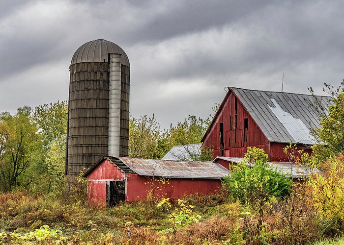 Landscape Greeting Card featuring the photograph Indiana Barn #108 by Scott Smith