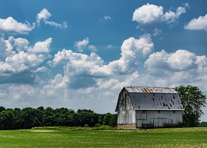 Barn Greeting Card featuring the photograph Indiana Barn, #5 by Scott Smith