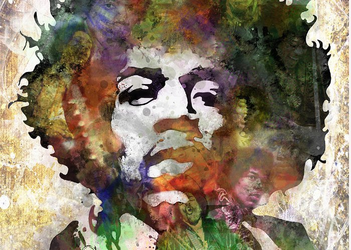 Rock And Roll Jimi Hendrix Music Greeting Cards