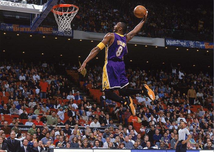 Nba Pro Basketball Greeting Card featuring the photograph Kobe Bryant by Fernando Medina