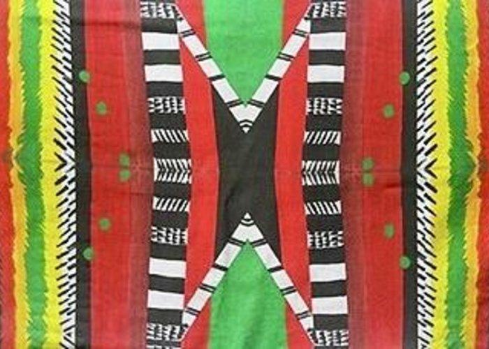 Kwanzaa Greeting Card featuring the mixed media Kwanzaa by Sheila J Hall