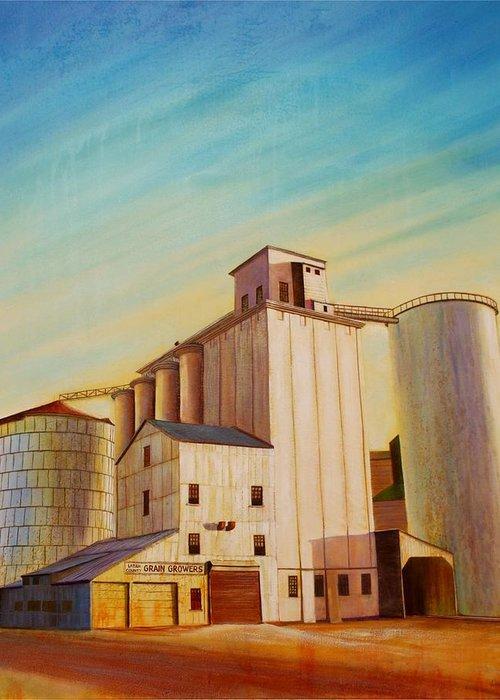 Grain Greeting Card featuring the painting Latah County Grain Growers by Leonard Heid