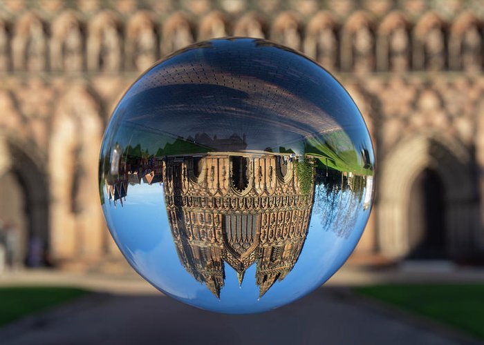 Lichfield Greeting Card featuring the photograph Lichfield lens ball by Steev Stamford