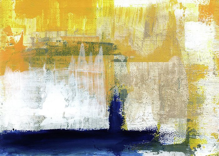 Abstract Greeting Card featuring the painting Light Of Day 4 by Linda Woods
