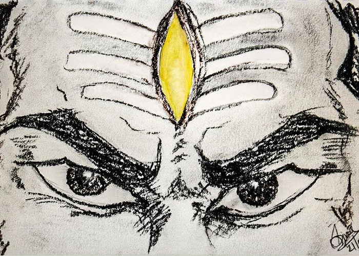 Lord Shiva Drawing By Siva Prasad