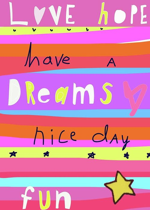Whimsical Greeting Card featuring the digital art Love Stripes by Ashley Rice