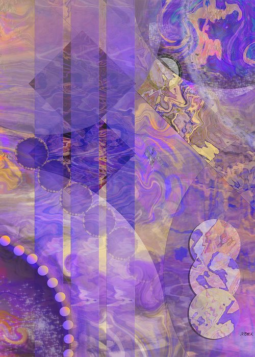 Lunar Impressions 2 Greeting Card featuring the digital art Lunar Impressions 2 by John Robert Beck