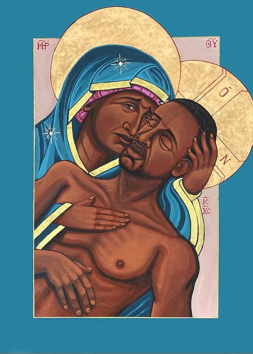 Greeting Card featuring the painting Mama by Kelly Latimore