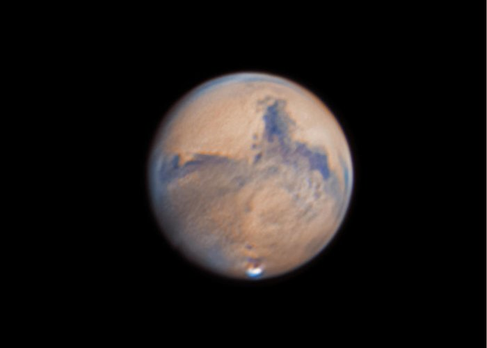 Mars Greeting Card featuring the photograph Mars from 31st October 2020 by Prabhu Astrophotography