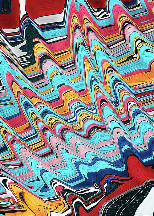 Abstract Greeting Card featuring the digital art Melatonin Dreams by Jack Entropy