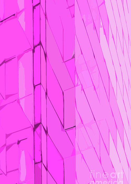 Abstract Greeting Card featuring the photograph Modern Abstract Purple by Edward Fielding