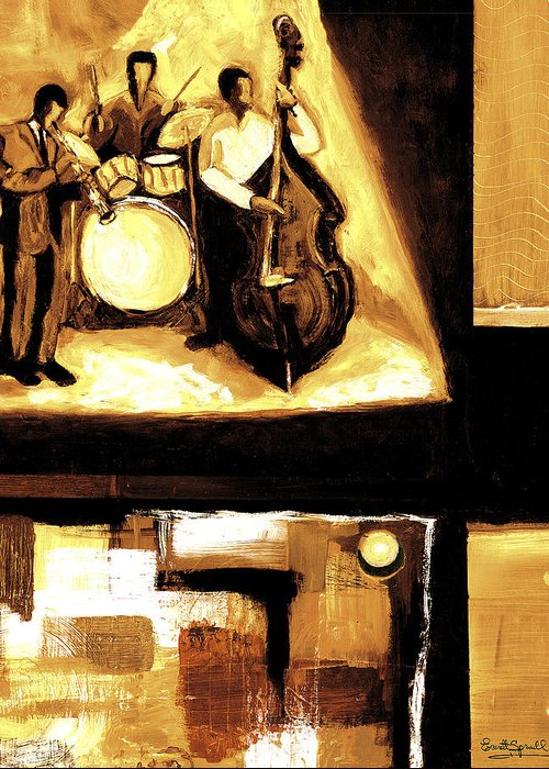 Everett Spruill Greeting Card featuring the painting Modern Jazz Number Two by Everett Spruill