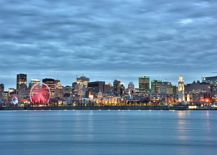 Montreal Greeting Card featuring the photograph Montreal, Quebec - Skyline by Brendan Reals