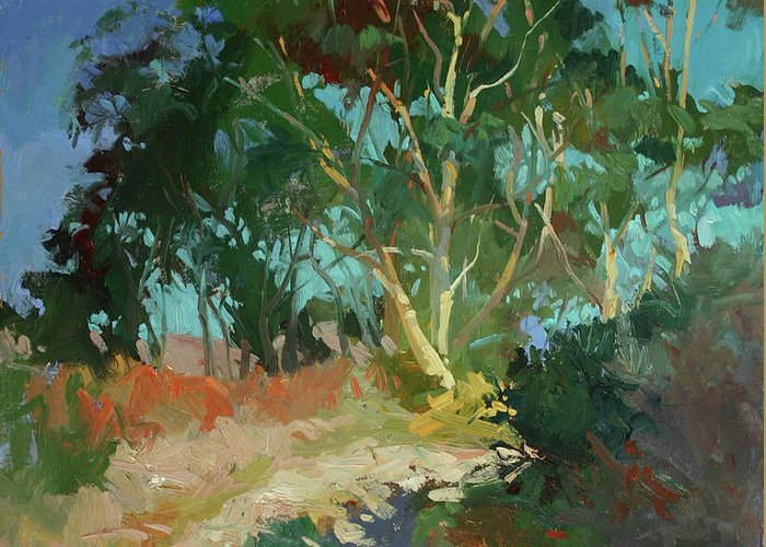 Plein Air Paintings Greeting Card featuring the painting Morning Has Broken by Betty Jean Billups