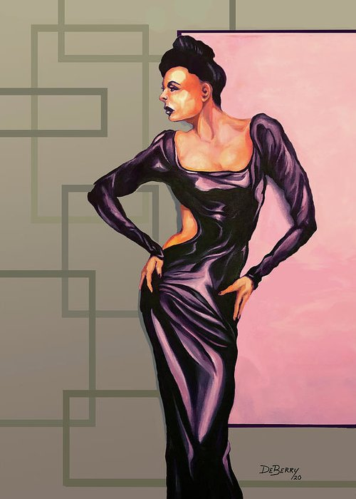Ms Jane: Original Creation By Lloyd Deberry Greeting Card featuring the painting MS Jane by Lloyd DeBerry