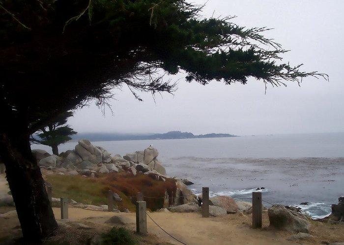 Beach Greeting Card featuring the photograph Near Carmel by Pharris Art