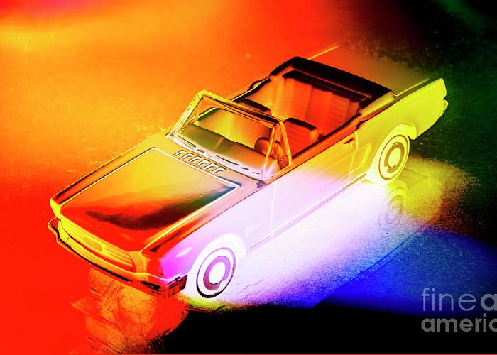 Neon Greeting Card featuring the photograph Neon Drives by Jorgo Photography - Wall Art Gallery
