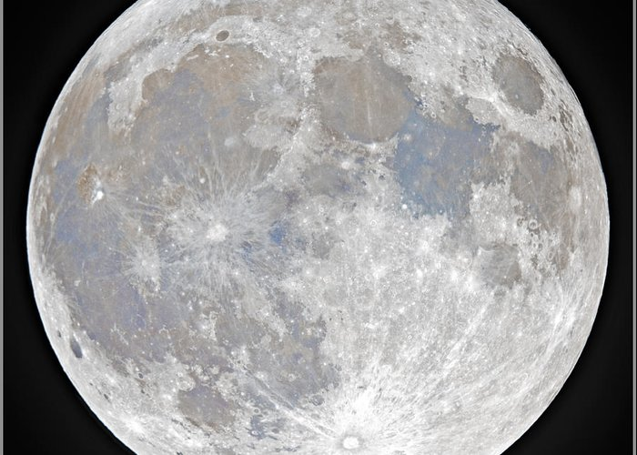 Fullmoon Greeting Card featuring the photograph October 2020 Halloween Full/Blue Moon by Prabhu Astrophotography