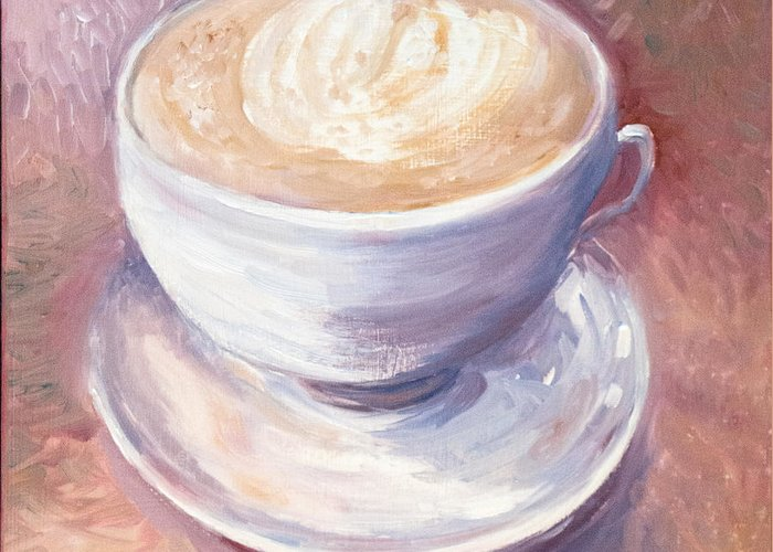 Chai Greeting Card featuring the painting Ode to Chai by Jennifer Lycke