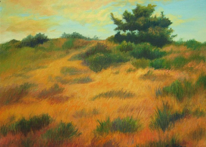 Cape Cod Scene Greeting Card featuring the painting Province Lands Cape Cod by Phyllis Tarlow
