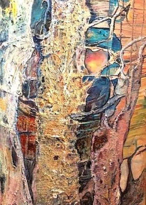 Trees Greeting Card featuring the painting Sapelo by Peggy Blood