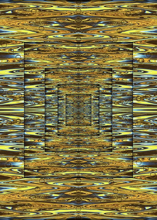 Abstract Greeting Card featuring the digital art Scriptures of Ancient Wizardry by Jack Entropy