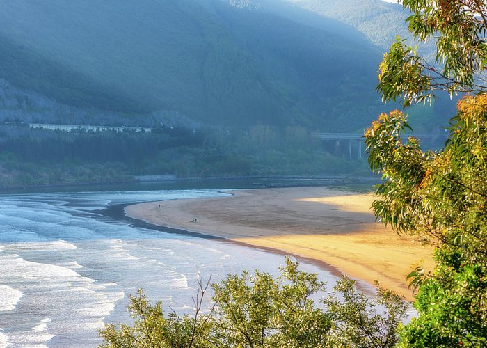 Color Greeting Card featuring the photograph Sonabia Beach In Cantabria by Vicen Photography