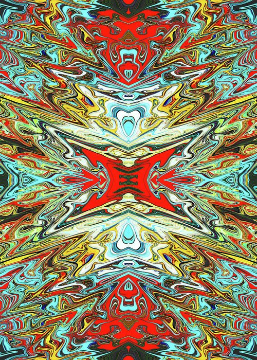 Abstract Greeting Card featuring the digital art Soul Piercer by Jack Entropy