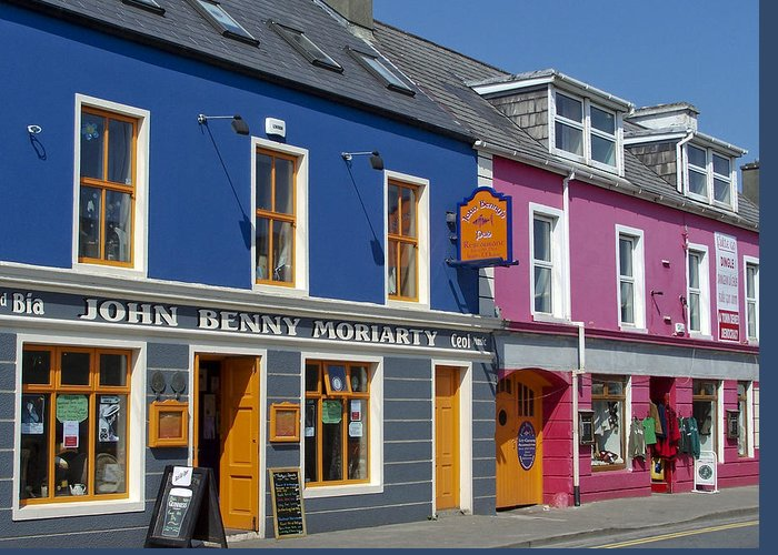Irish Greeting Card featuring the photograph Strand Street in Dingle Ireland by Teresa Mucha