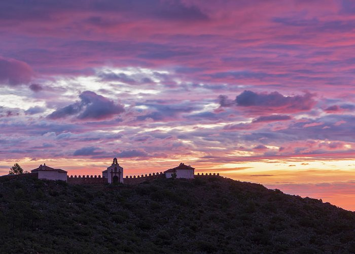 Convent Greeting Card featuring the photograph Sunrise In The Desert Of Las Palmas, Castellon by Vicen Photography