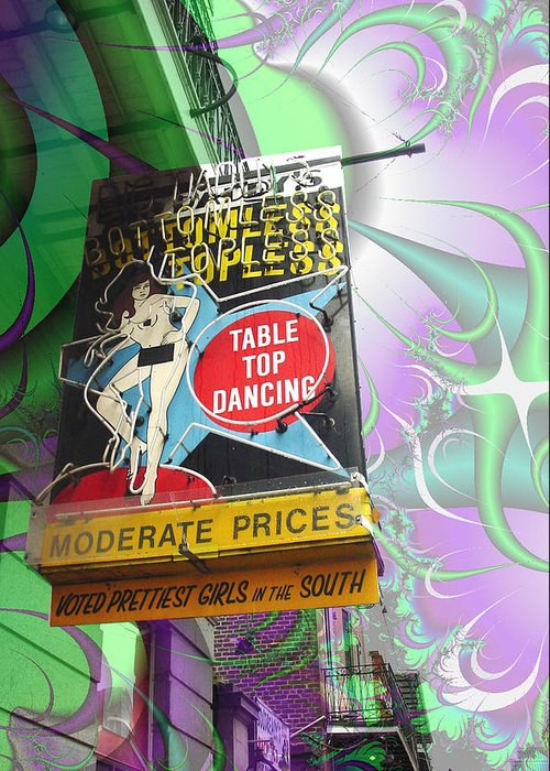 New Orleans Greeting Card featuring the photograph Table Top Dancing by Linda Kish