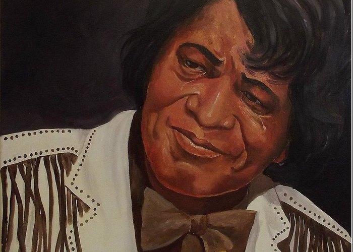 James Brown Greeting Card featuring the painting Tears Of Joy by Wanda Dansereau