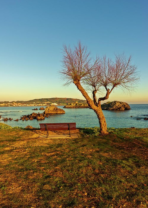 Ris Greeting Card featuring the photograph The Beach Of The Ris In Noja, Cantabria by Vicen Photography