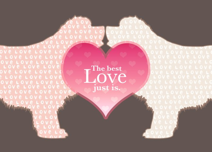 Newf Greeting Card featuring the digital art The Best Love by Christine Mullis