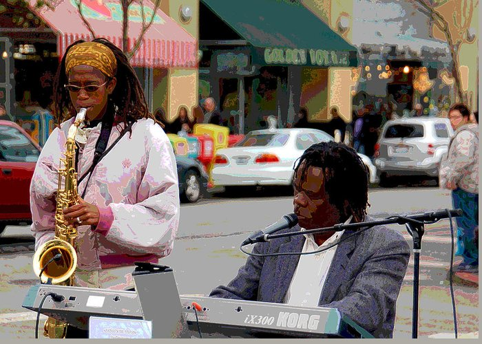 Jazz Greeting Card featuring the photograph The Color of Music by Suzanne Gaff