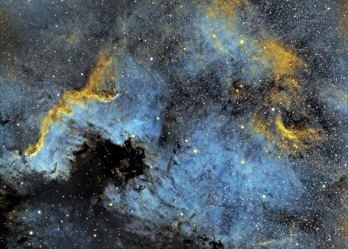Nebula Greeting Card featuring the photograph The North America Nebula by Prabhu Astrophotography