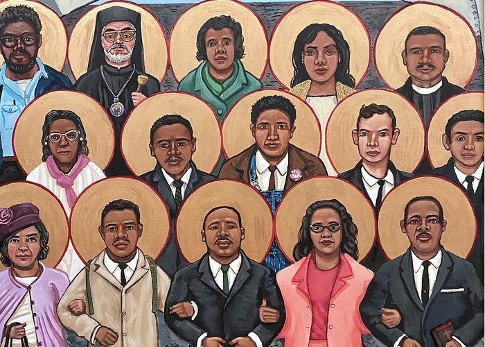 Greeting Card featuring the painting The Saints of Selma by Kelly Latimore